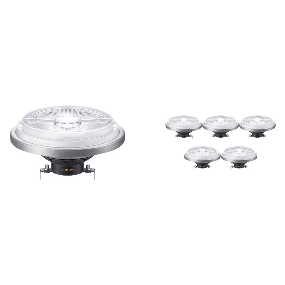 Multipack 6x Philips LEDspot ExpertColor G53 AR111 (MASTER) 11W 930 24D   Best Colour Rendering - Dimmable - Replaces 50W
