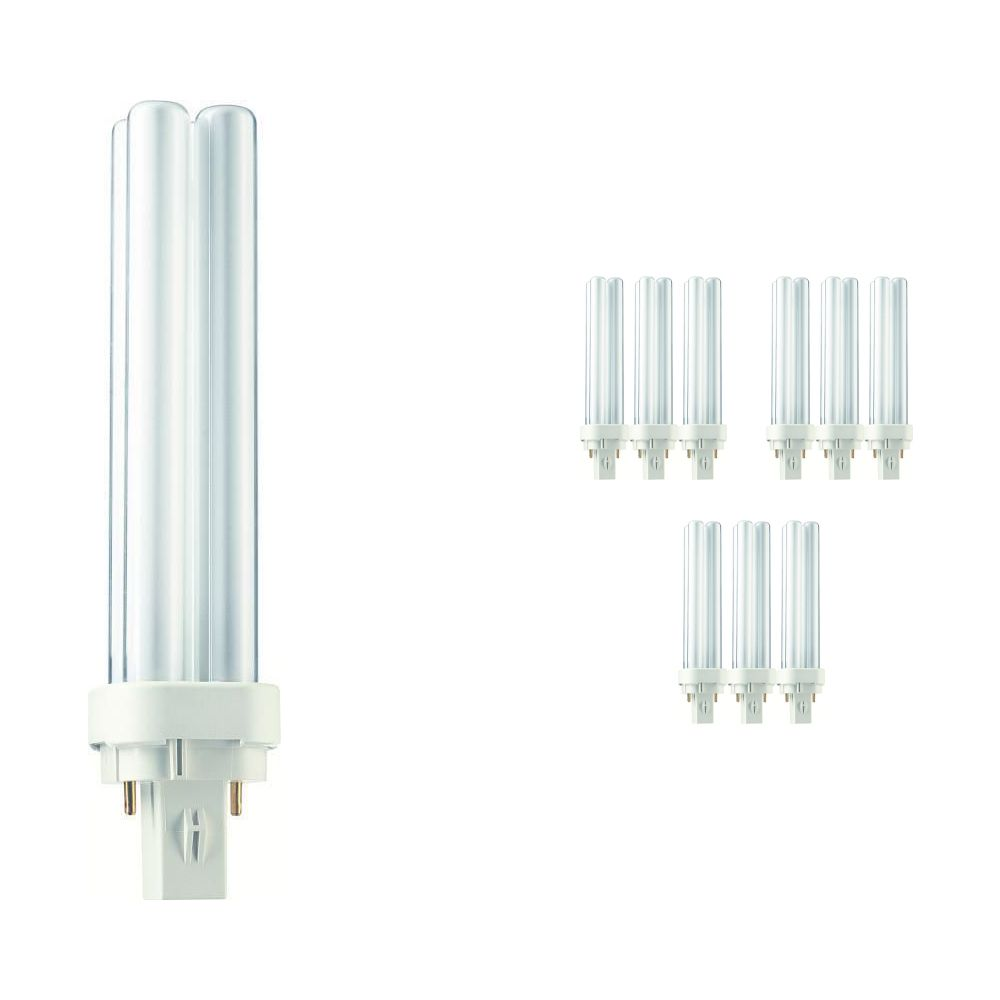 Mehrfachpackung 10x Philips PL-C 18W 827 2P (MASTER) | Extra Warmweiß - 2-Pins
