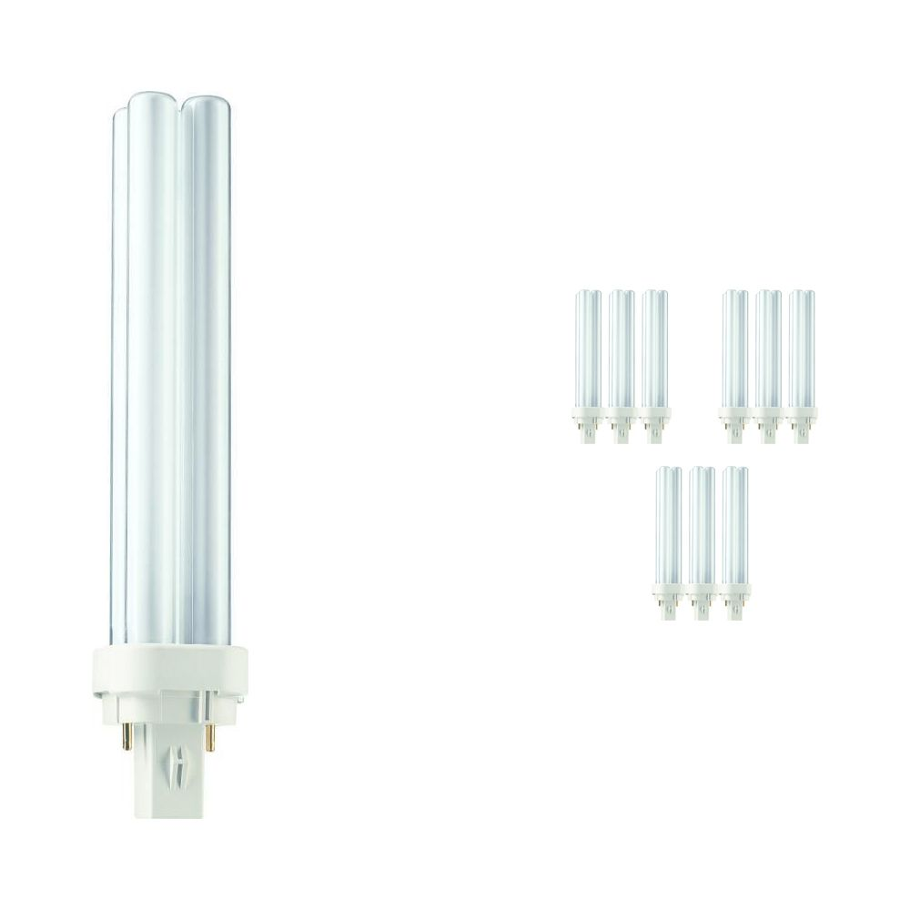 Multipack 10x Philips PL-C 26W 840 2P (MASTER) | Cool White - 2-Pin