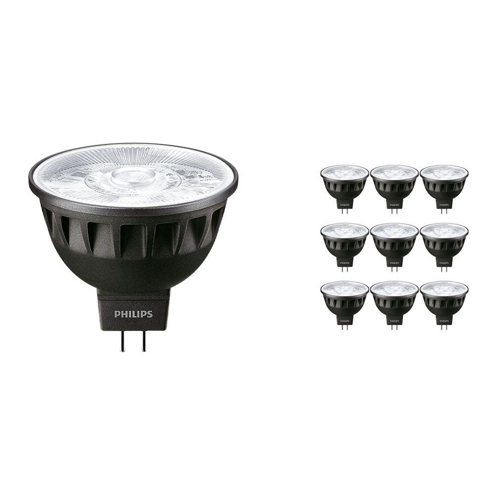 Voordeelpak 10x Philips LEDspot ExpertColor GU5.3 MR16 6.5W 927 10D (MASTER) | Zeer Warm Wit - Beste Kleurweergave - Dimbaar - Vervangt 35W