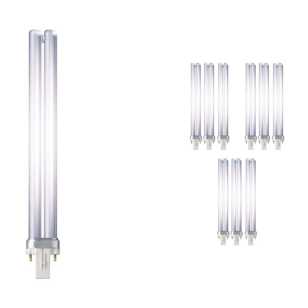 Lot 10x Philips PL-S 11W 827 2P (MASTER) | Blanc Très Chaud - 2-Pins