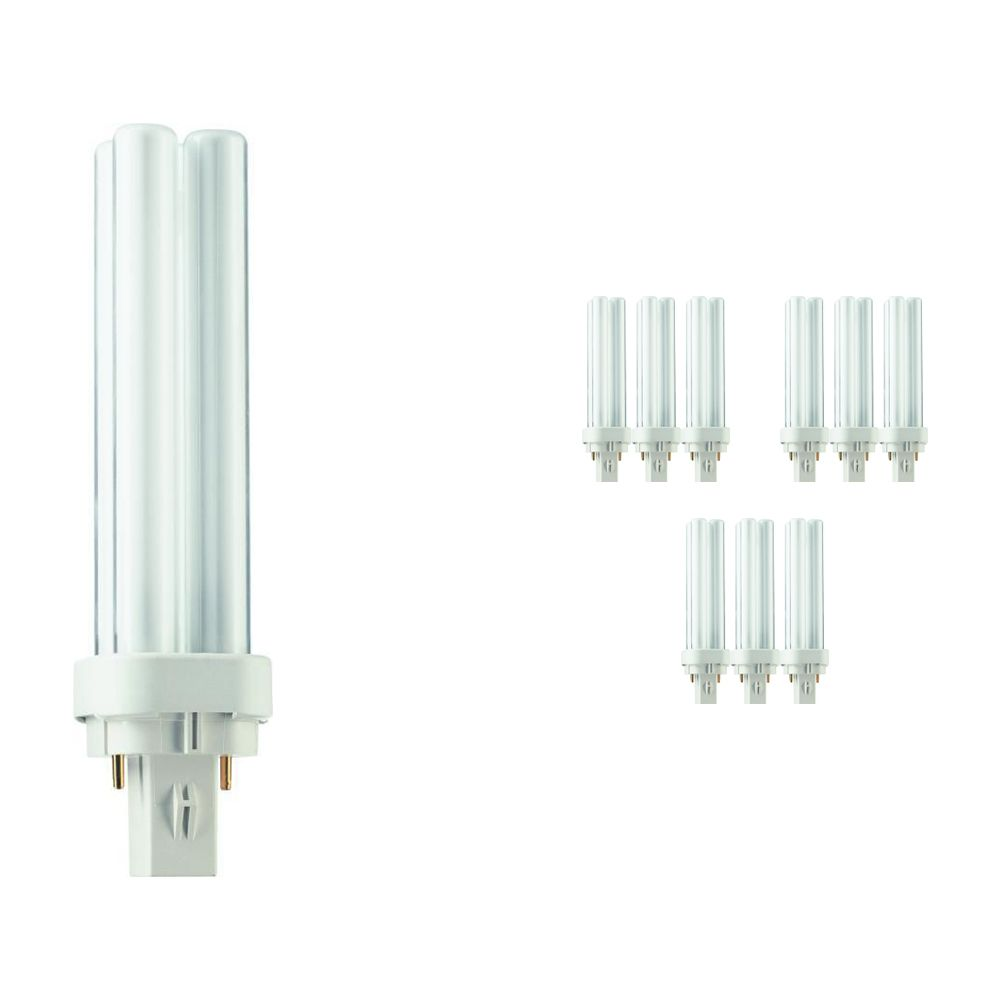 Multipack 10x Philips PL-C 13W 827 2P (MASTER) | Luz muy Cálida - 2-Pines