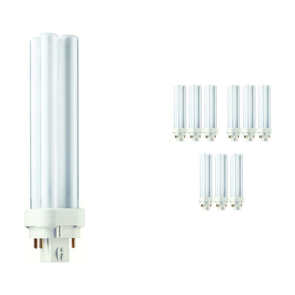 Voordeelpak 10x Philips PL-C 18W 827 4P (MASTER) | Zeer Warm Wit - 4-Pin