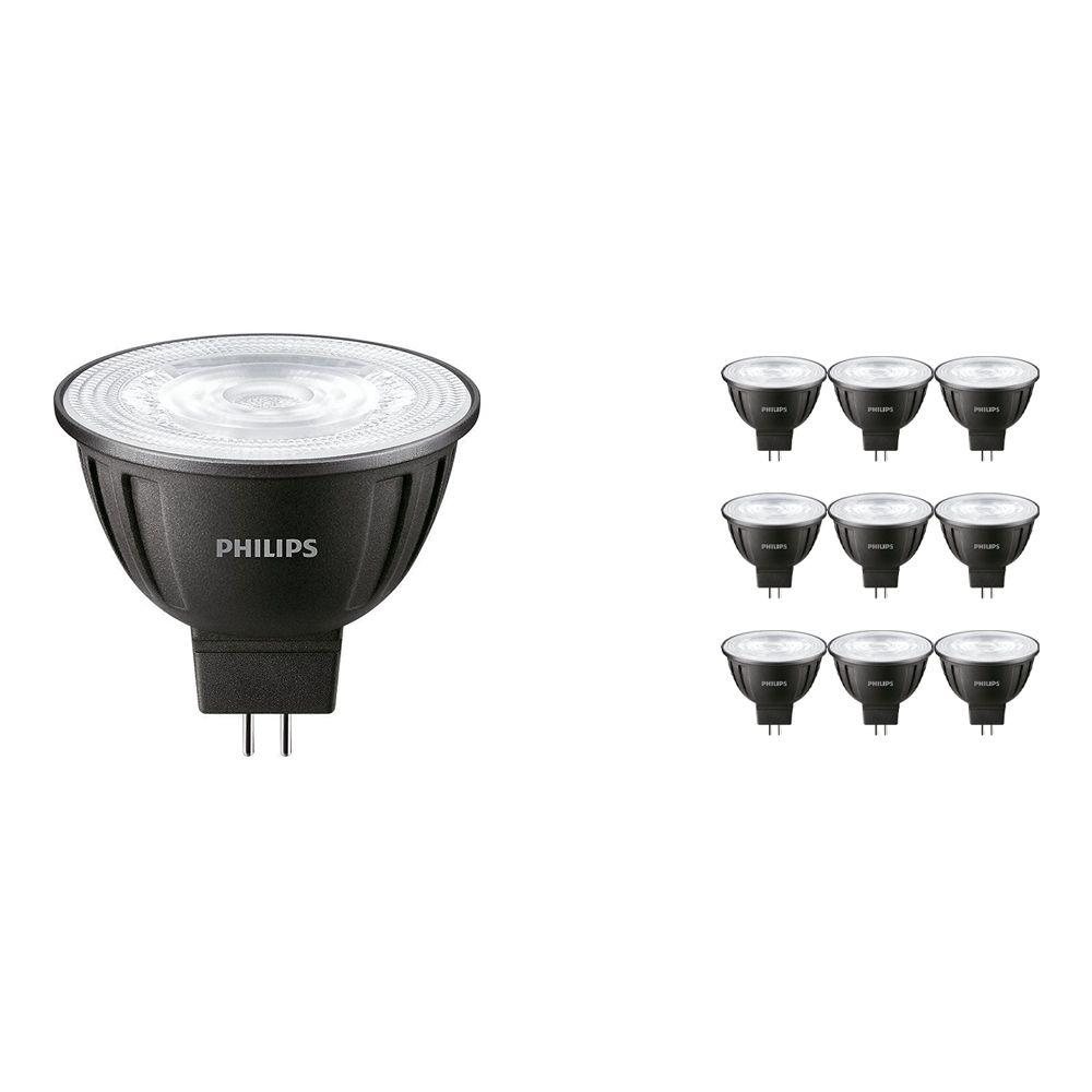 Voordeelpak 10x Philips LEDspot LV GU5.3 MR16 8W 830 36D (MASTER) | Warm Wit - Dimbaar - Vervangt 50W