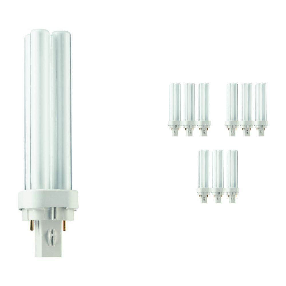 Voordeelpak 10x Philips PL-C 13W 840 2P (MASTER) | Koel Wit - 2-Pin