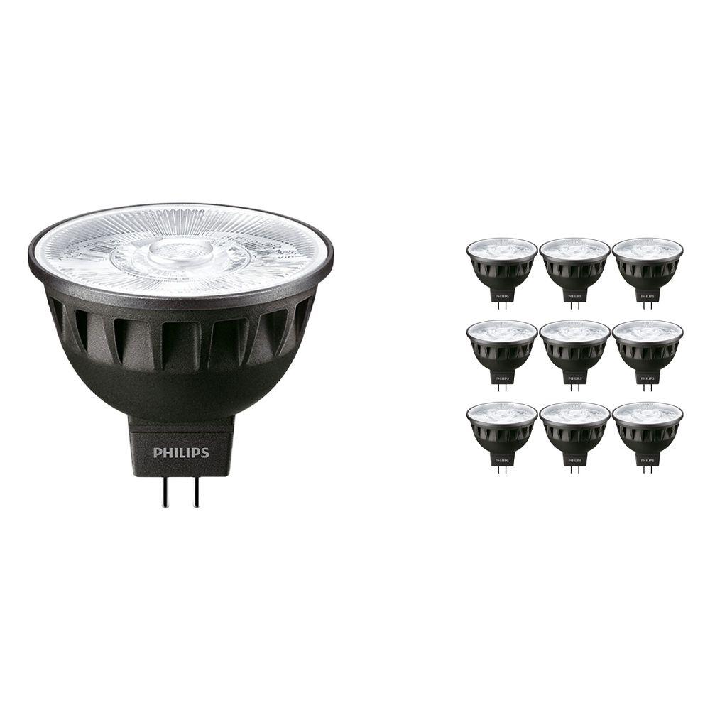 Multipack 10x Philips LEDspot ExpertColor GU5.3 MR16 6.5W 930 10D (MASTER) | Luz Cálida - Mejor reproducción de color - Regulable - Reemplazo 35W