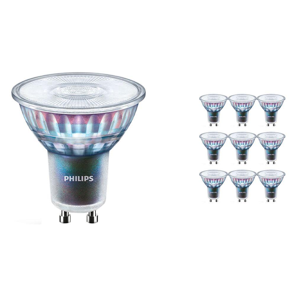Mehrfachpackung 10x Philips LEDspot ExpertColor GU10 3.9W 930 25D (MASTER) | Höchste Farbwiedergabe - Warmweiß - Dimmbar - Ersatz für 35W