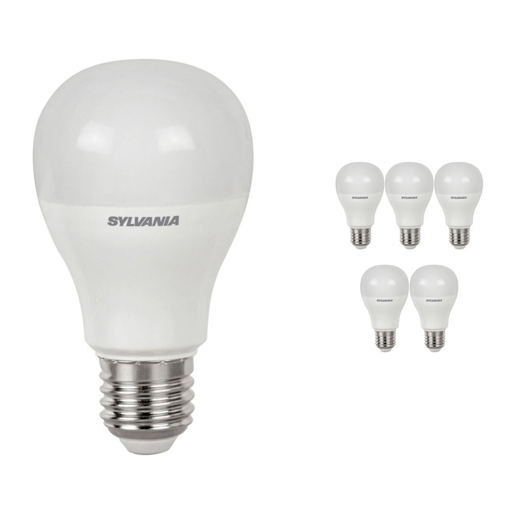 Multipack 6x Sylvania ToLEDo GLS E27 10.5W 865 Frosted | Replaces 75W