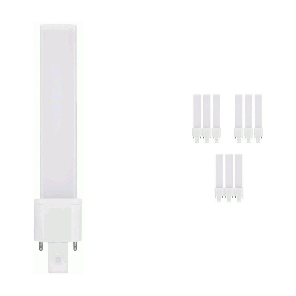 Mehrfachpackung 10x Osram Dulux S LED G23 4.5W 840 | Kaltweiß - 2-Pins - Ersatz für 9W
