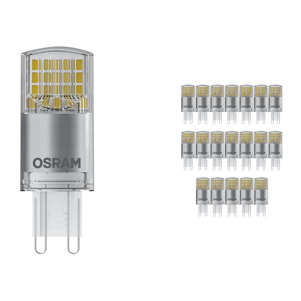 Multipack 20x Osram Parathom Pin G9 3.8W 827 Clear | Replaces 40W