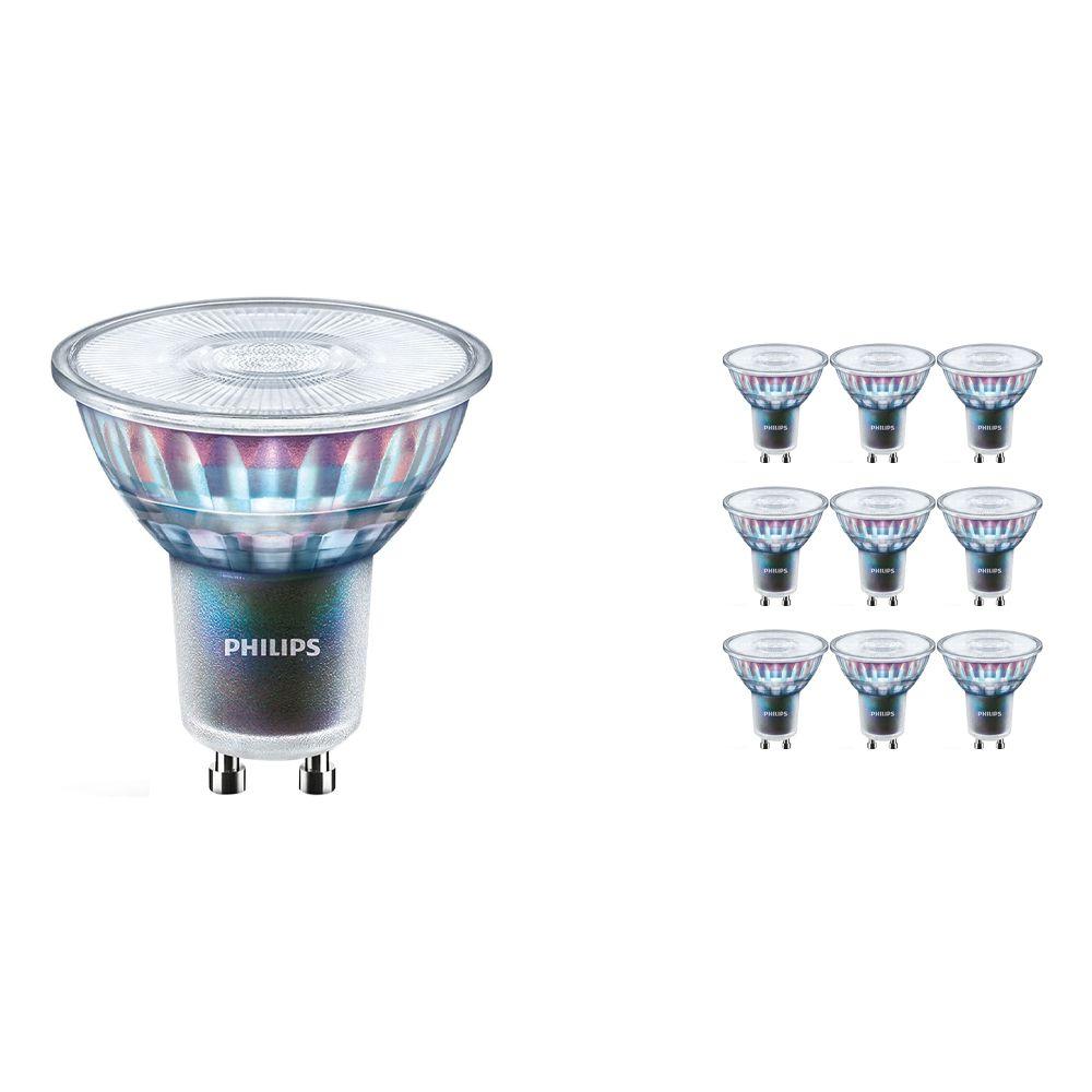 Voordeelpak 10x Philips LEDspot ExpertColor GU10 5.5W 930 25D (MASTER) | Beste Kleurweergave - Warm Wit - Dimbaar - Vervangt 50W