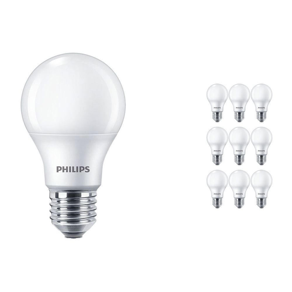 Voordeelpak 10x Philips CorePro LEDbulb E27 A60 8.5W 927 Mat | Beste Kleurweergave - Zeer Warm Wit - Dimbaar - Vervangt 60W