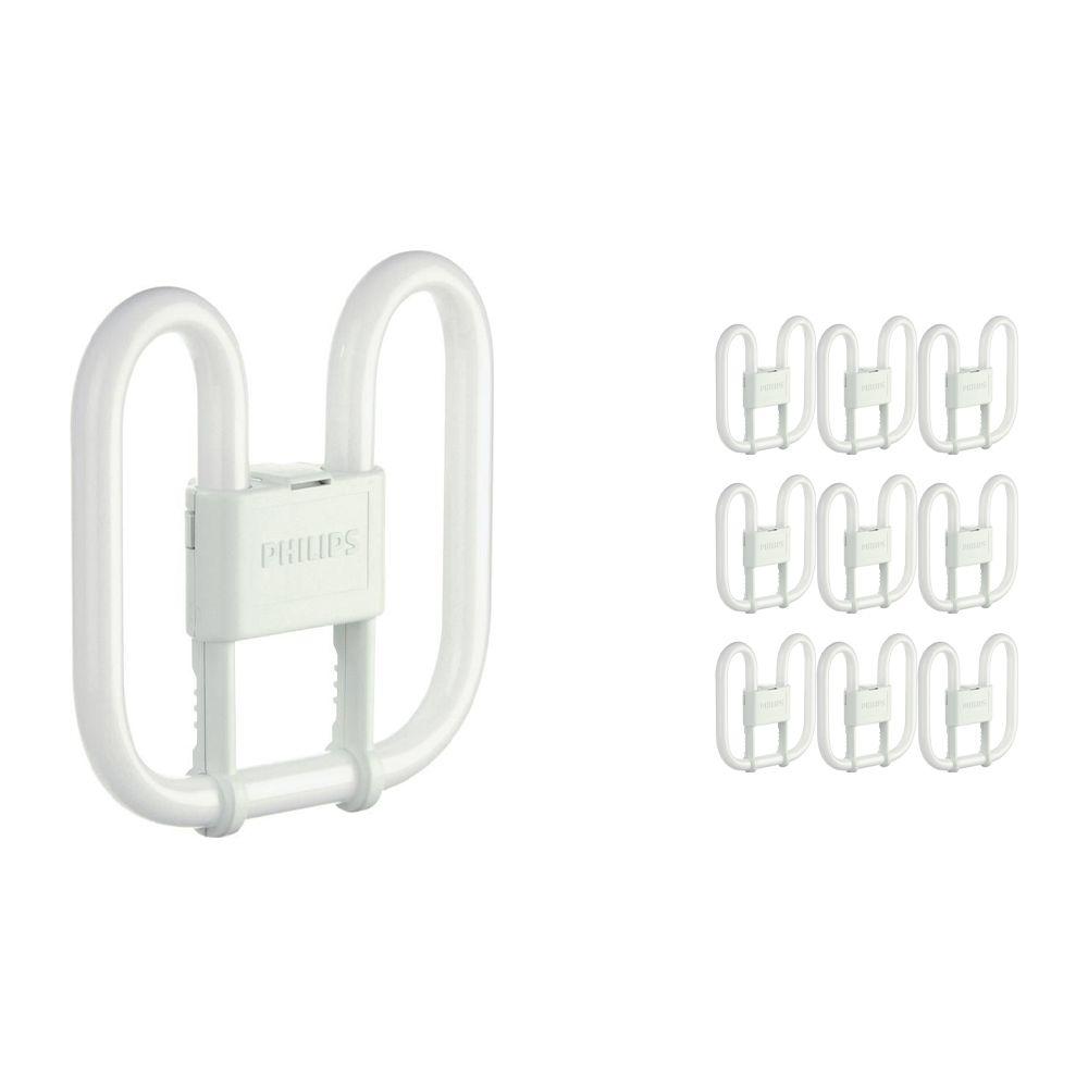 Fordelspakning 10x Philips PL-Q 28W 830 4P (MASTER) | varm hvit - 4-stift