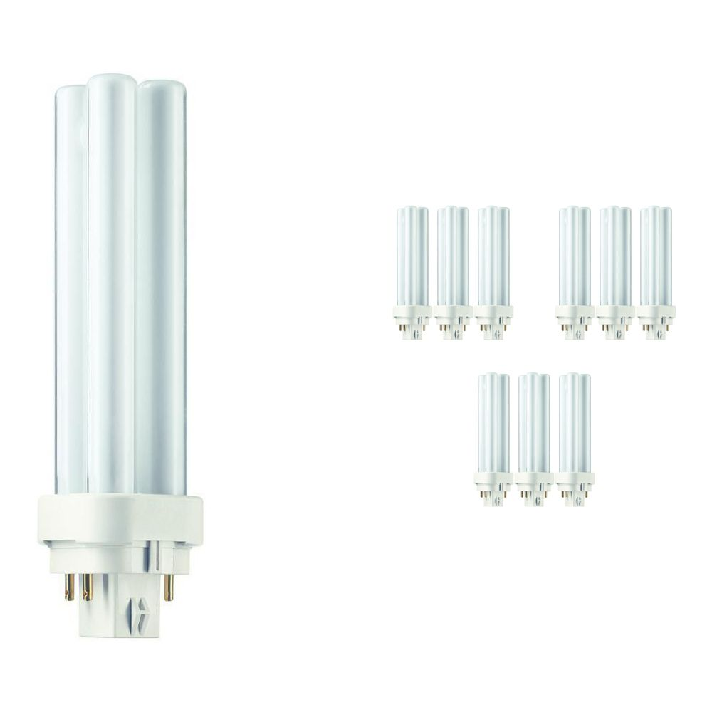 Multipack 10x Philips PL-C 13W 830 4P (MASTER) | Warm White - 4-Pin