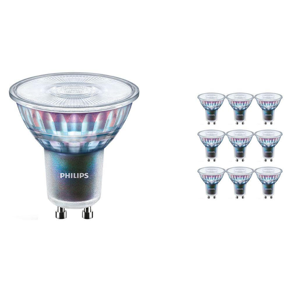 Mehrfachpackung 10x Philips LEDspot ExpertColor GU10 5.5W 940 36D (MASTER) | Höchste Farbwiedergabe - Kaltweiß - Dimmbar - Ersatz für 50W