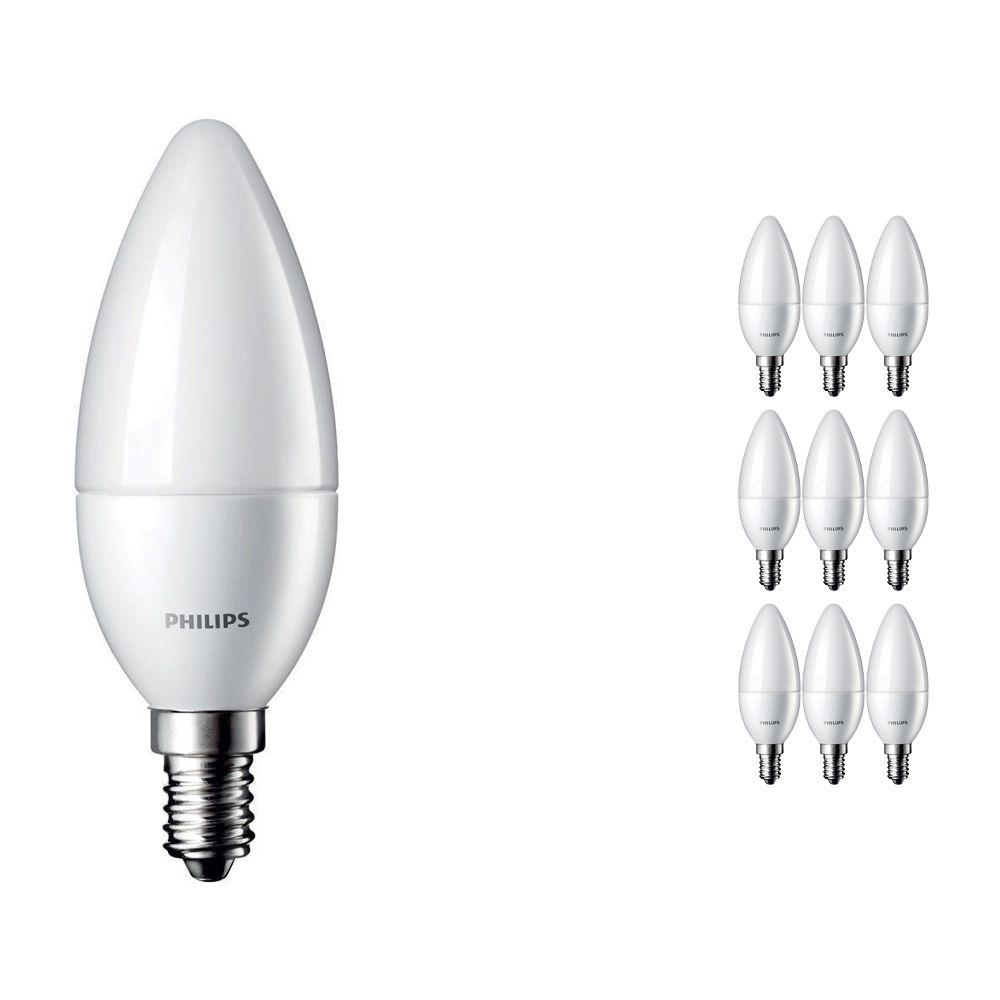 Multipack 10x Philips CorePro LEDcandle E14 B35 5.5W 827 Matt | Replaces 40W