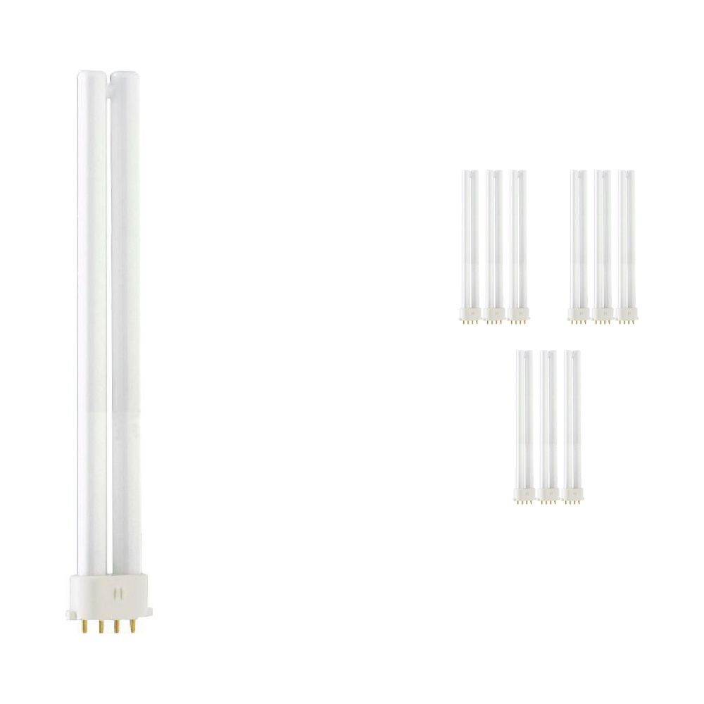 Lot 10x Philips PL-S 11W 830 4P (MASTER) | Blanc Chaud - 4-Pins