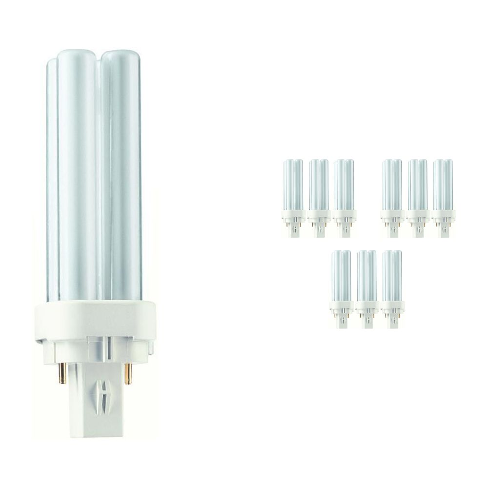 Multipack 10x Philips PL-C 10W 830 2P (MASTER) | Warm White - 2-Pin