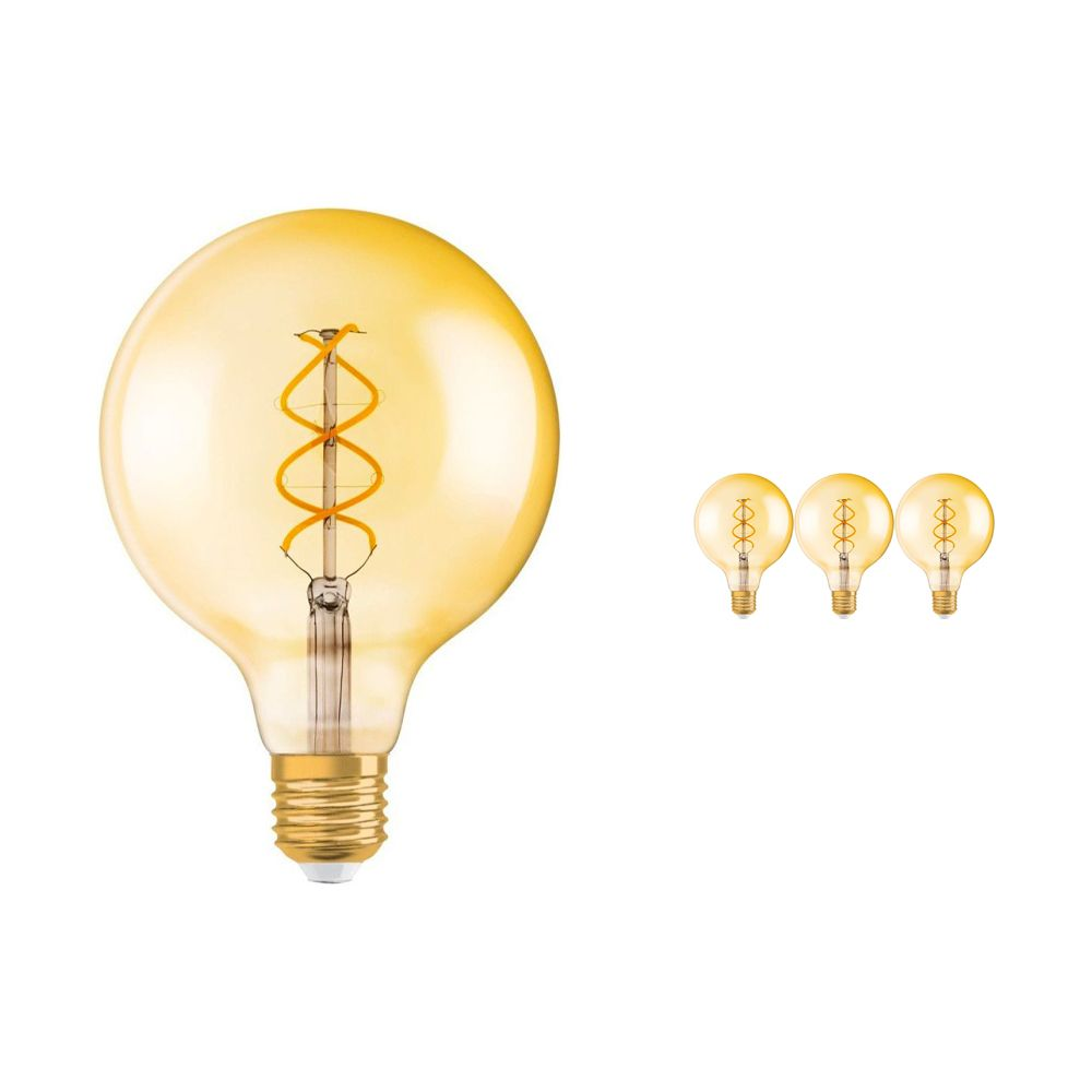 Multipack 4x Osram Vintage 1906 LED E27 Globe 5W 820 Gold | Replaces 25W