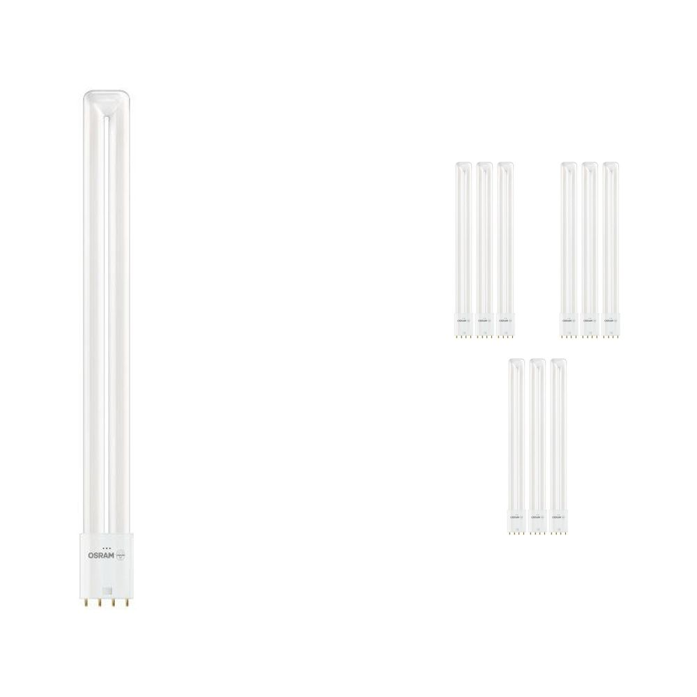 Lot 10x Osram Dulux L LED 2G11 18W 830 | 4 broches - Remplacement 36W