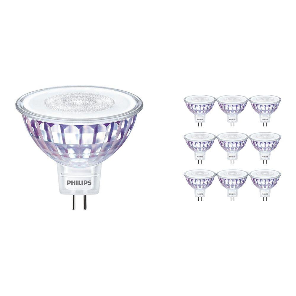Voordeelpak 10x Philips LEDspot VLE GU5.3 MR16 7W 840 36D (MASTER) | Dimbaar - Vervanger voor 50W