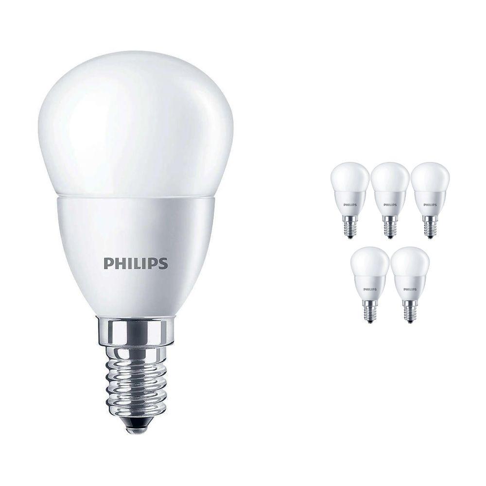 Lot 6x Philips CorePro LEDluster E14 P45 5.5W 827 Matt | Remplacement 40W