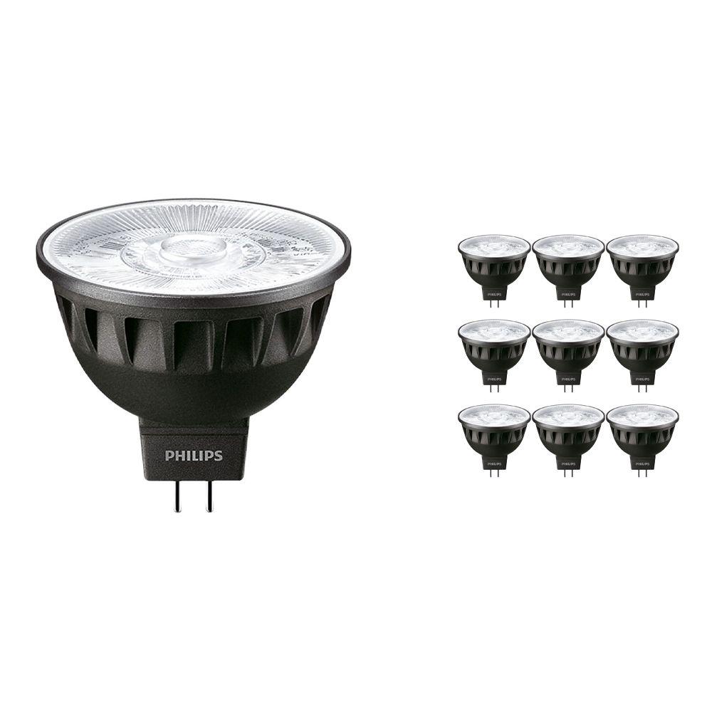 Monipakkaus 10x Philips LEDspot ExpertColor GU5.3 MR16 6.5W 930 60D (MASTER) | Lämmin Valkoinen - Paras Värintois- Himmennettävä - Korvaa 35W