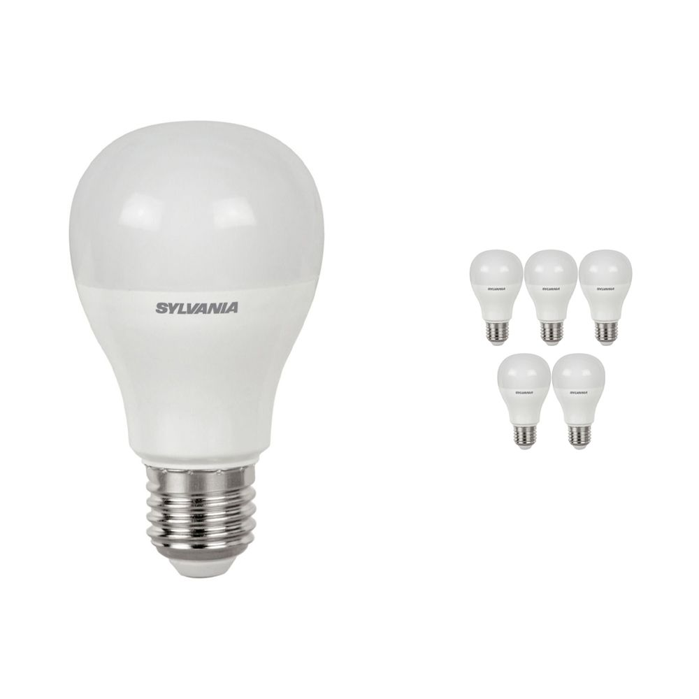 Multipack 6x Sylvania ToLEDo GLS E27 9W 865 Frosted | Replaces 60W