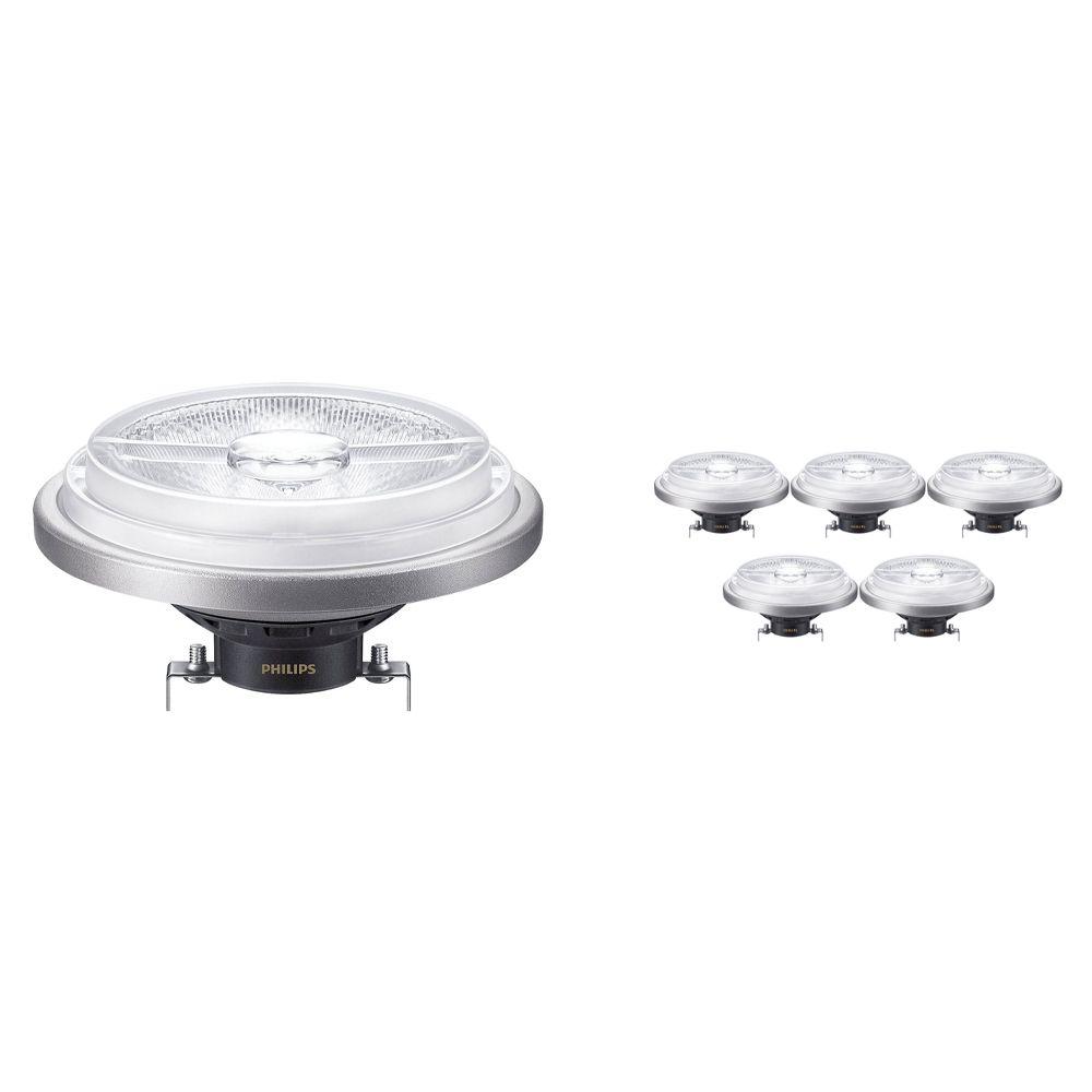 Voordeelpak 6x Philips LEDspot ExpertColor G53 AR111 (MASTER) 15W 940 40D | Dimbaar - Hoogste Kleurweergave - Vervanger voor 75W