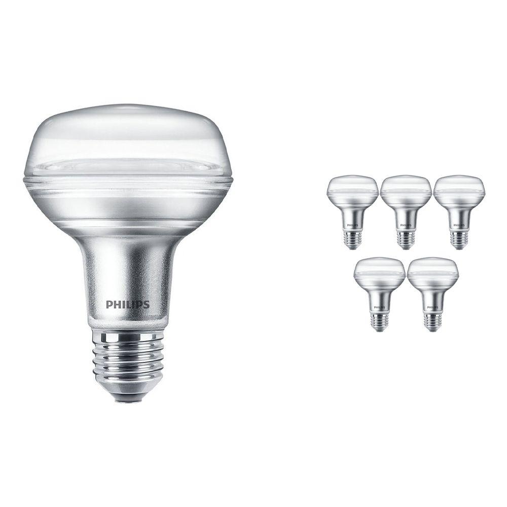 Voordeelpak 6x Philips CorePro LEDspot E27 Reflector R80 4W 827 36D | Vervanger voor 60W