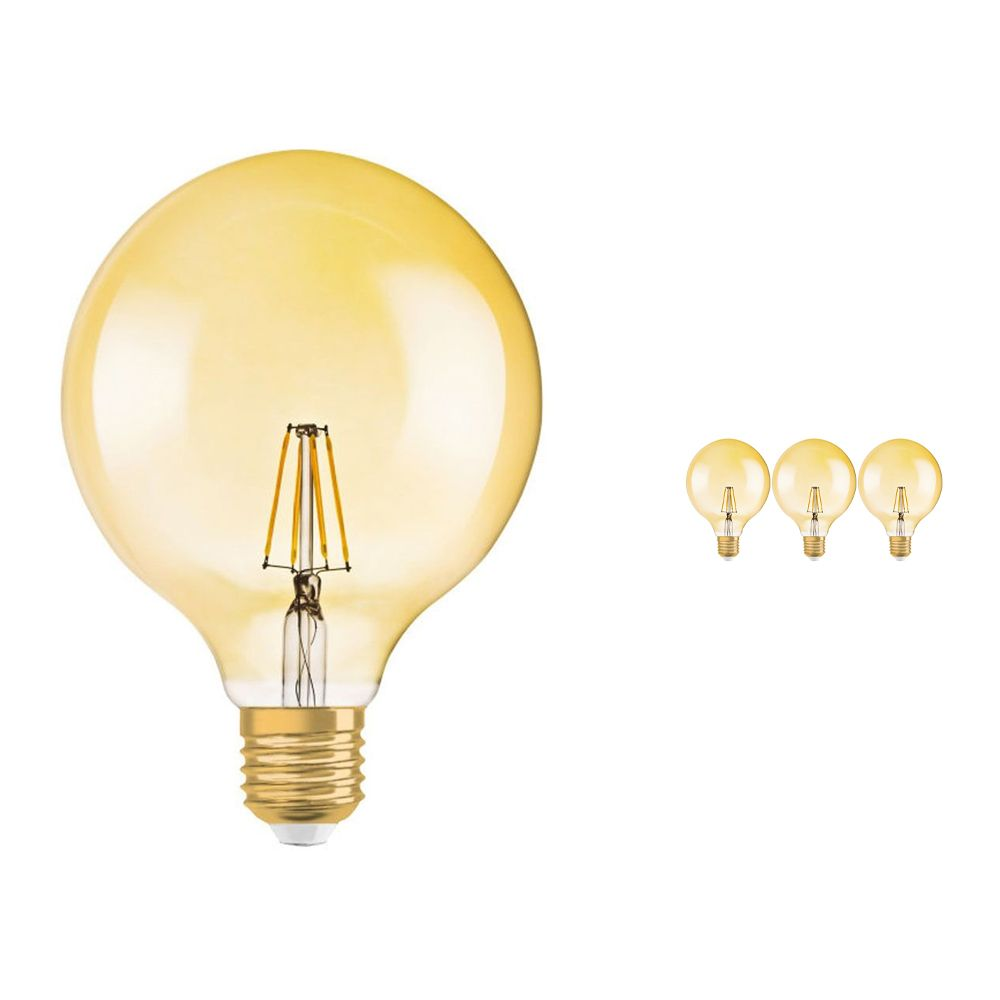 Multipack 4x Osram Vintage 1906 LED E27 Globe 4W 824 Gold | Replaces 35W