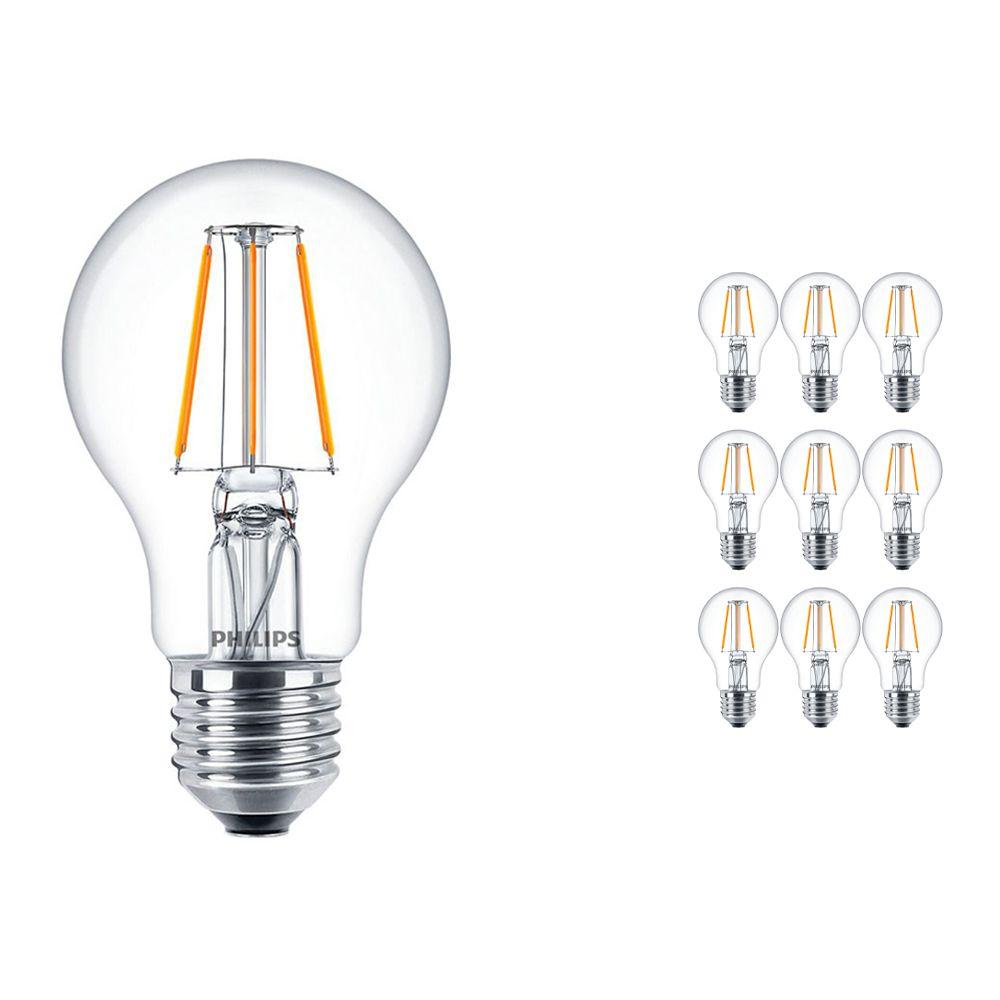 Lot 10x Philips classique LEDbulb E27 A60 4.3W 827 Claire | Remplacement 40W