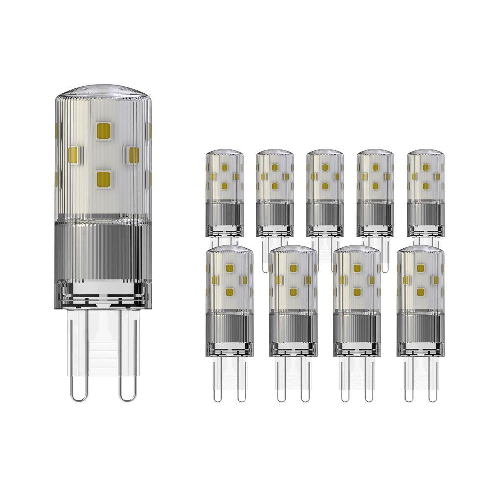 Flerpack 10X Noxion LED Bolt G9 3.8W 827 | Extra Varm Vit - Ersättare 40W