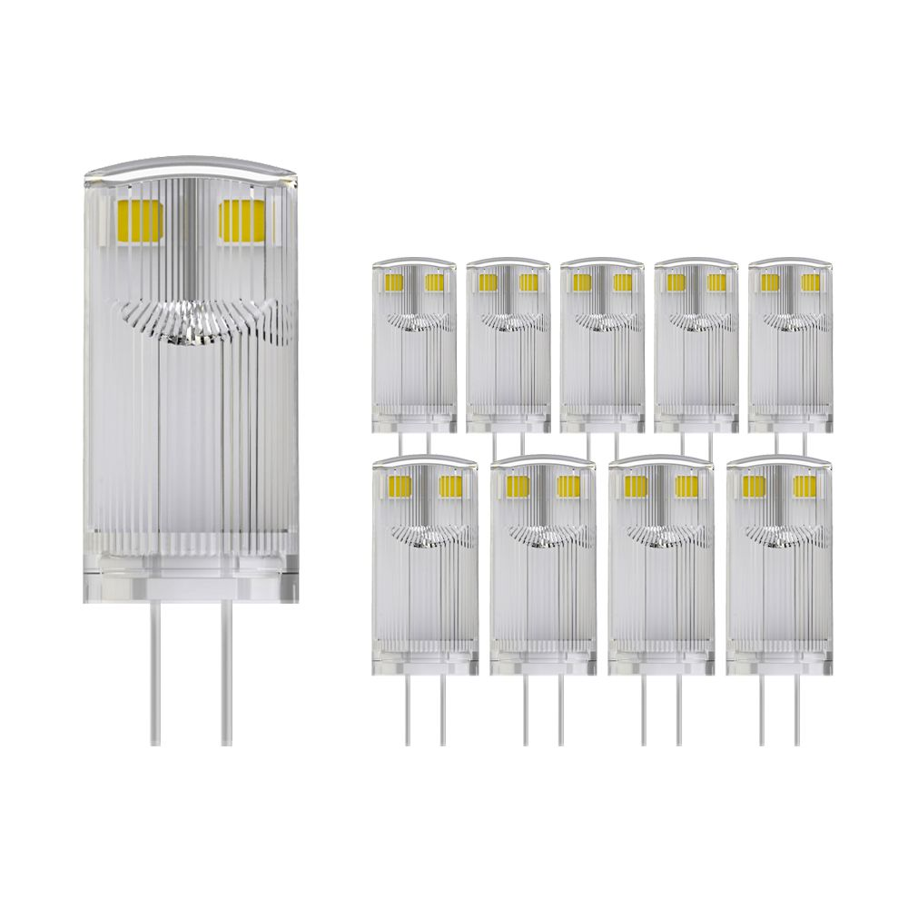 Multipack 10X Noxion LED Bolt G4 0.9W 827 12V | Extra Warm White - Replaces 10W