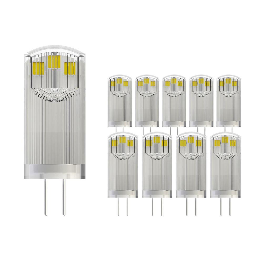 Flerpack 10X Noxion LED Bolt G4 1.8 827 12V   Extra Varm Vit - Ersättare 21W