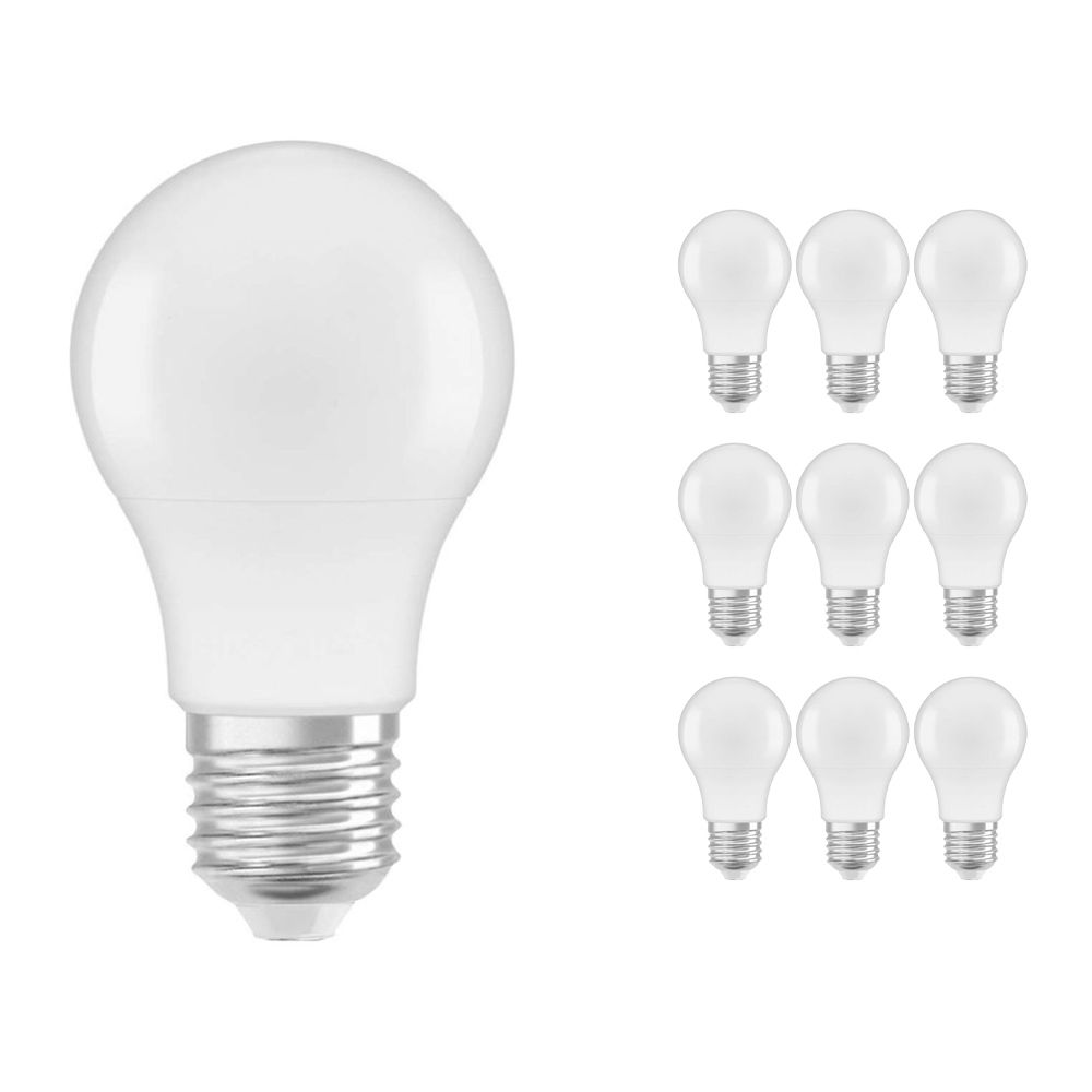 Multipack 10x Osram Parathom Classic E27 A55 6W 827 470lm Frosted | Extra Warm White - Replaces 40W