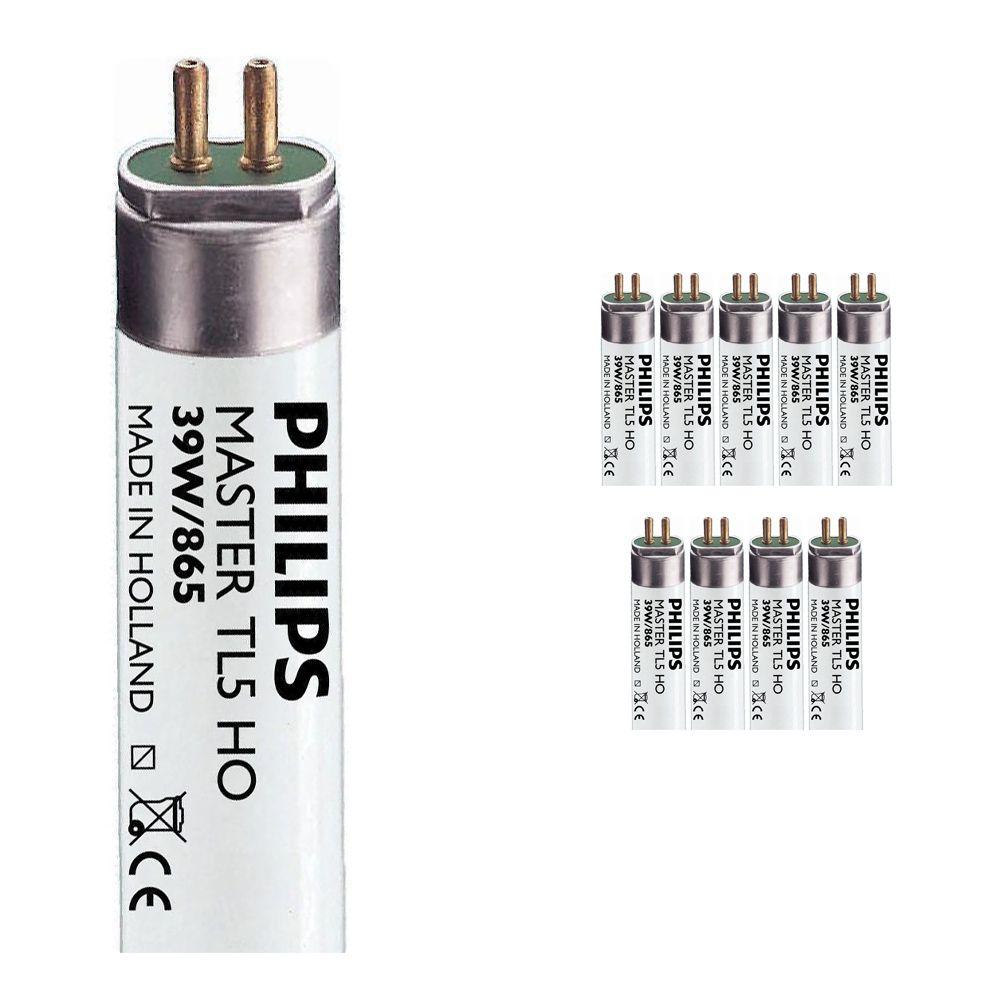 Multipack 10x Philips TL5 HO 39W 865 (MASTER) | 85cm - Luz de Día
