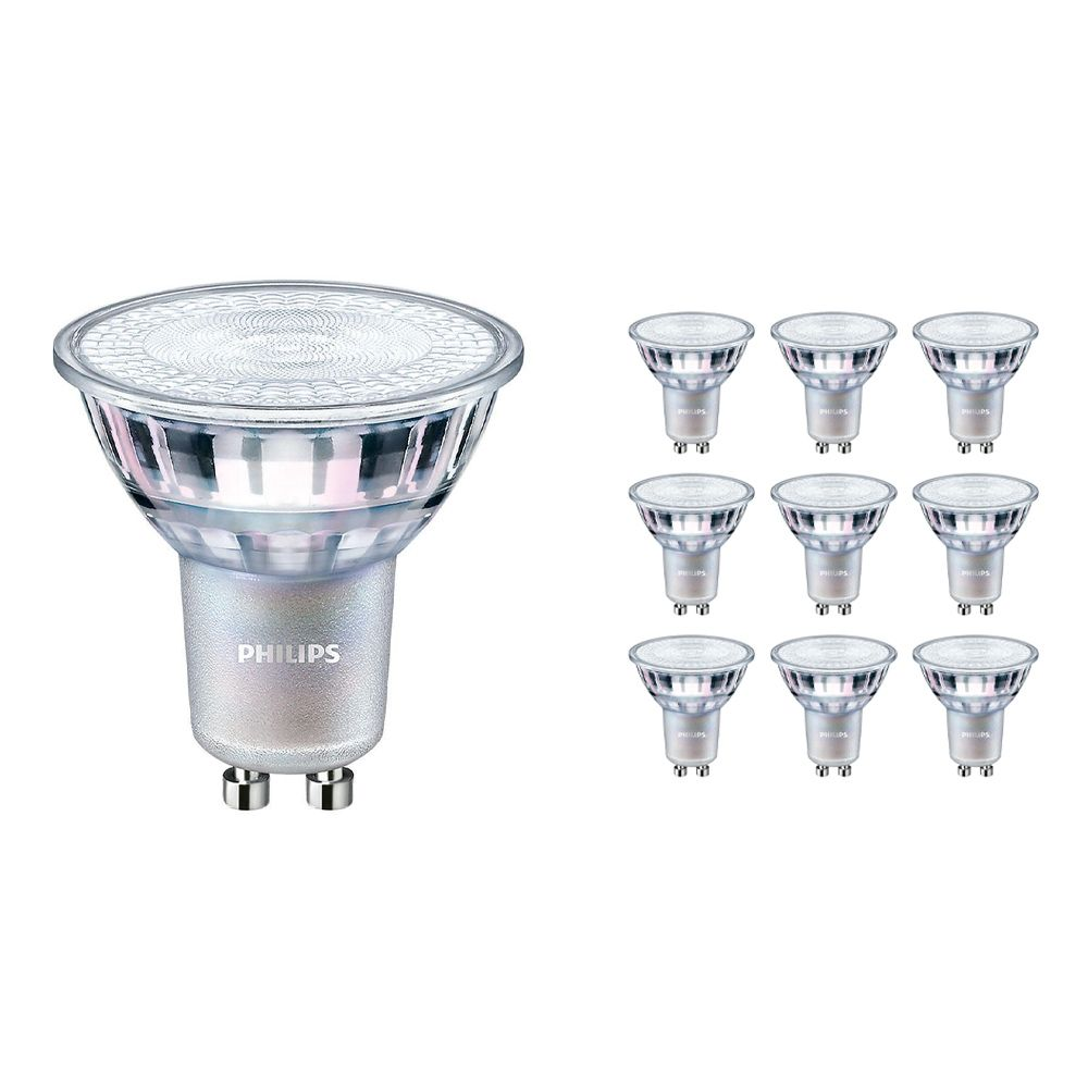 Multipack 10x Philips LEDspot MV Value GU10 3.7W 940 36D (MASTER)   Best Colour Rendering - Cool White - Dimmable - Replaces 35W