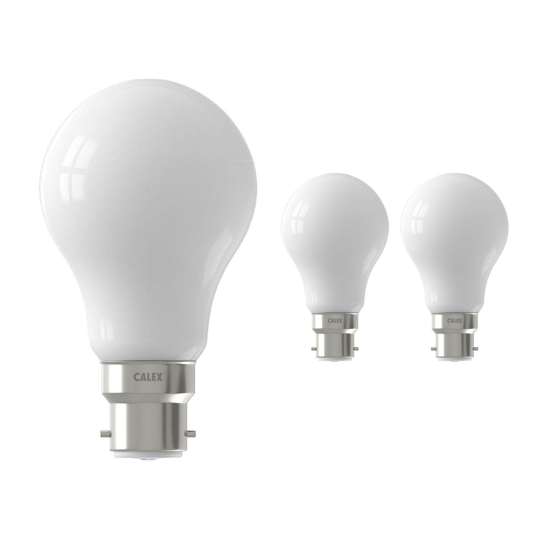 Fordelspakke 3x Calex Smart Standard LED Pære B22 7W 806lm 2200-4000K CCT | Tuya Wi-Fi