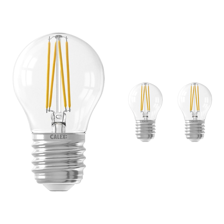 Multipack 3x Calex Smart Spherical LED Bulb E27 4,5W 450lm 1800-3000K Filament | Tuya Wifi