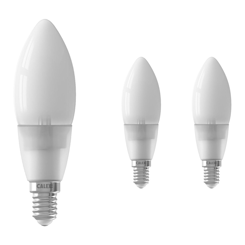 Voordeelpak 3x Calex Smart Kaars LED Lamp E14 4,5W 400lm 2200-4000K   Tuya Wifi - Afstembaar Wit