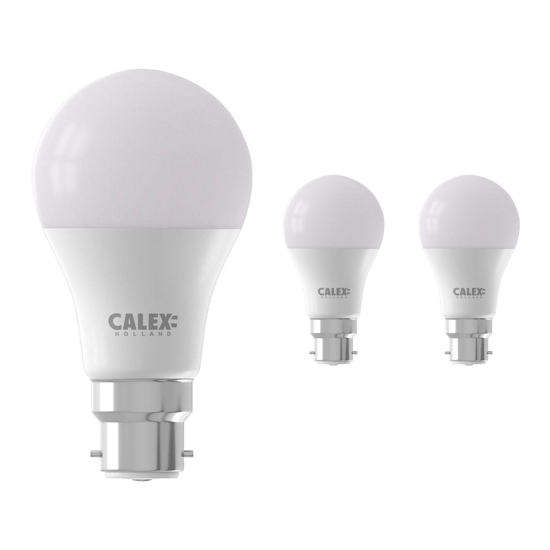 Voordeelpak 3x Calex Smart Standaard LED Lamp B22 9W 806lm 2200-4000K | Tuya Wifi - Afstembaar Wit