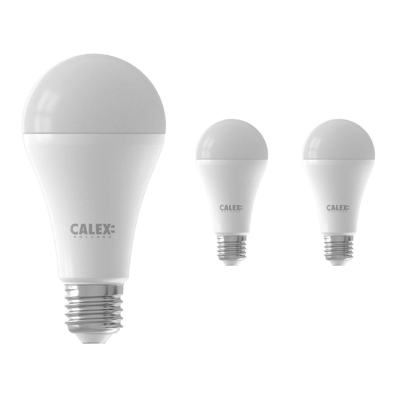 Voordeelpak 3x Calex Smart Standaard LED Lamp E27 14W 1400lm 2200-4000K | Tuya Wifi - Afstembaar Wit