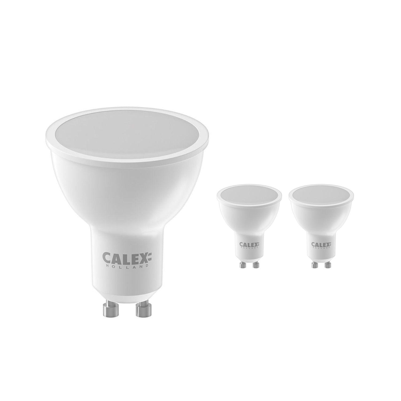 Voordeelpak 3x Calex Smart Reflector LED Spot GU10 5W 350lm 2200-4000K   Tuya Wifi - Color Ambiance + Afstembaar Wit