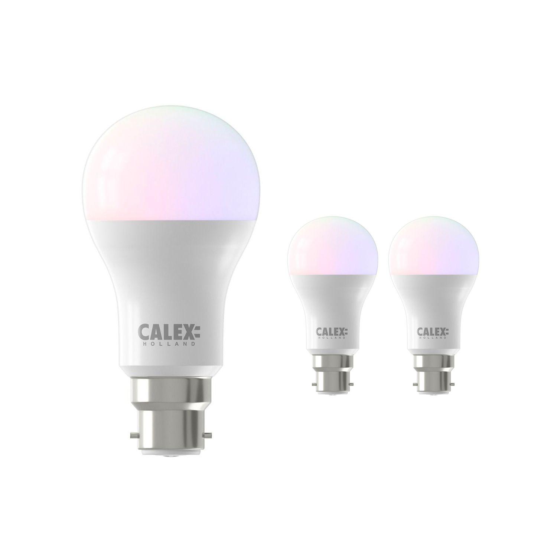 Multipack 3x Calex Smart Standard LED Bulb B22 8,5W 806lm 2200-4000K | Tuya Wifi