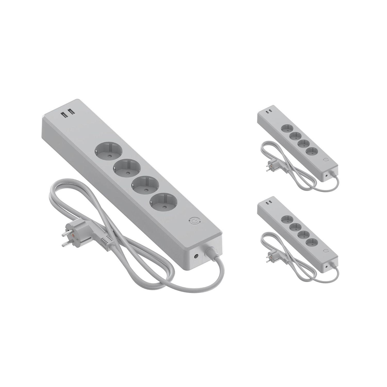 Multipack 3x Calex Smart Power Strip + USB EU | Tuya Wifi