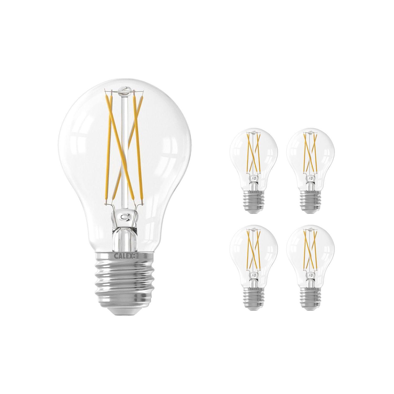 Voordeelpak 5x Calex Smart Standaard LED Lamp E27 7W 806lm 1800-3000K Filament | Tuya Wifi - Afstembaar Wit