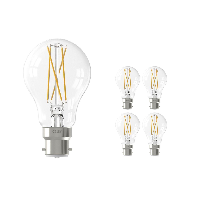 Fordelspakke 5x Calex Smart Standard LED Pære B22 7W 806lm 1800-3000K CCT filament | Tuya Wi-Fi