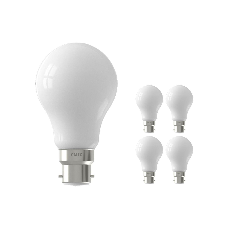 Fordelspakke 5x Calex Smart Standard LED Pære B22 7W 806lm 2200-4000K CCT | Tuya Wi-Fi