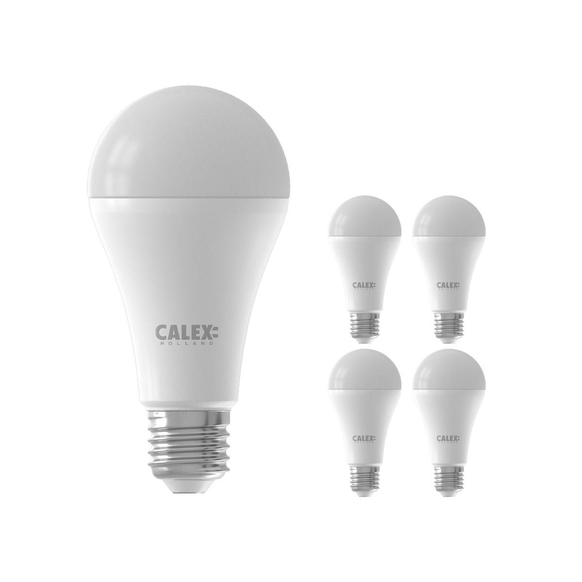 Voordeelpak 5x Calex Smart Standaard LED Lamp E27 14W 1400lm 2200-4000K | Tuya Wifi - Afstembaar Wit